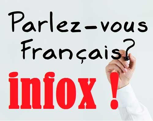 traducción de la fake news al francés