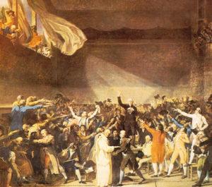 Origen de los términos derecha e izquierda en la Revolución Francesa